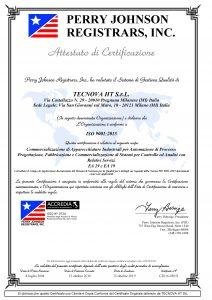 Certificazione ISO 9001 2015 Tecnova Ht Uso Cliente