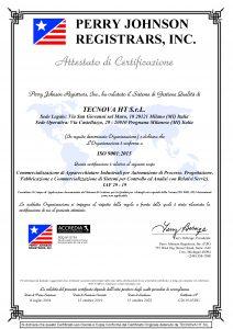 ISO 9001 2015 TECNOVA HT