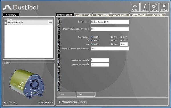 Monitoraggio Polveri Ambientali Software